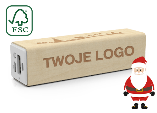 Maple Christmas - Power Bank Reklamowy