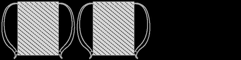 Torby ze sznurkiem Drukowanie cyfrowe