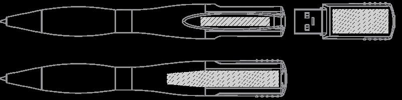 Długopis USB Drukowanie sitowe